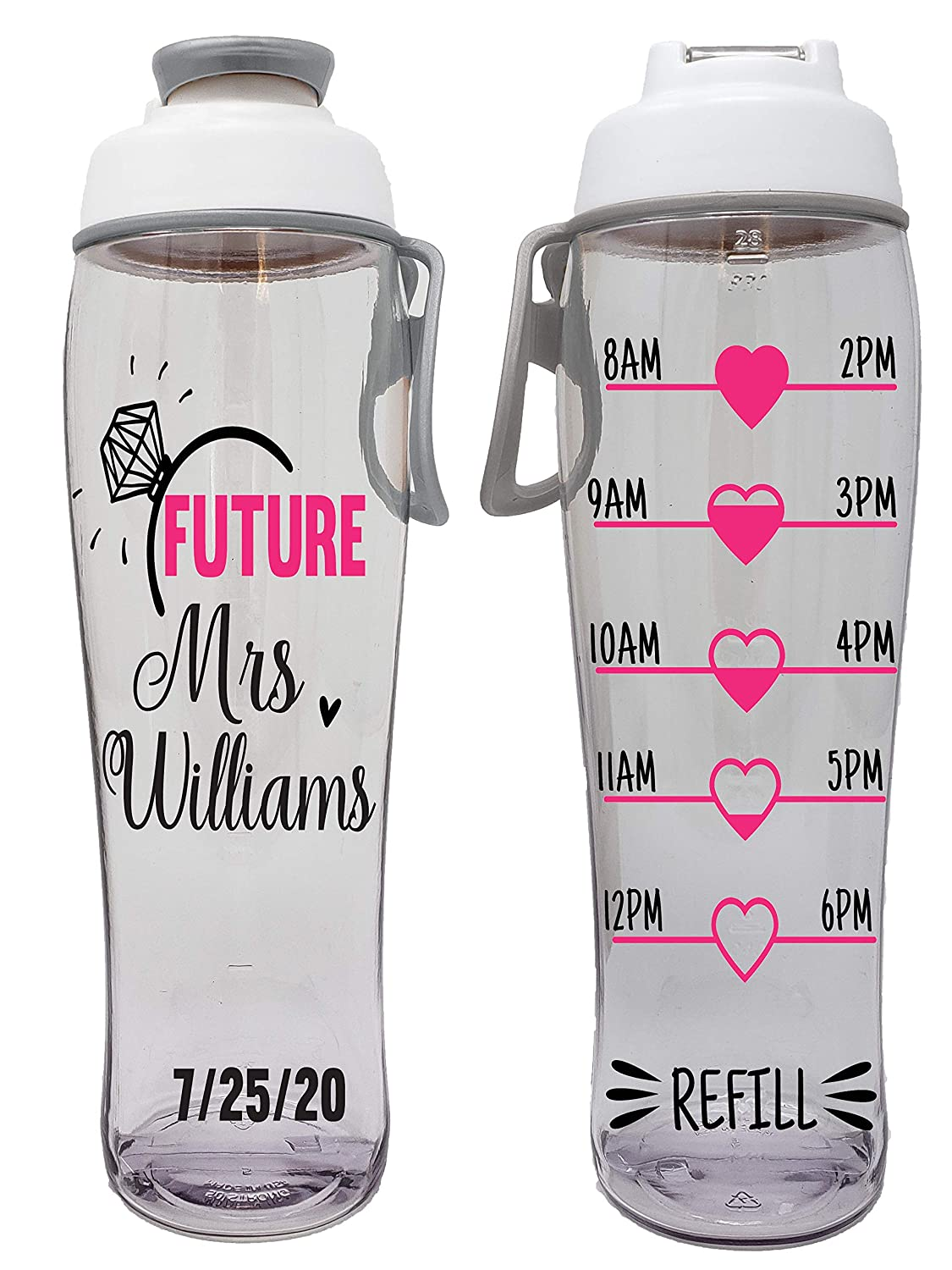 Maid of Honor Bachelorette Parties 50 Strong Bride /& Bridesmaid BPA Free Reusable Water Bottle Bridal Showers Weddings Perfect for Bridesmaids Gifts Brides