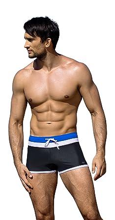 1b5e08088d8b6 Mens Fashion Swimming Trunks Boxers Swim Shorts Swimwear Slim Fit (M,  716/V2): Amazon.co.uk: Clothing