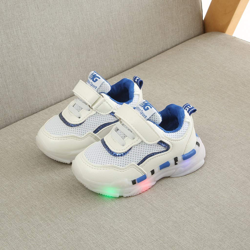 Iuhan  Boys Girls Led Shoes Children Baby Mesh Led Light Luminous Run Sport Sneakers Shoes