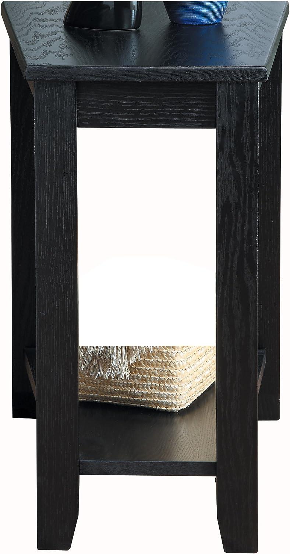 Homelegance Elwell Wedged Chairside Table Table, Black