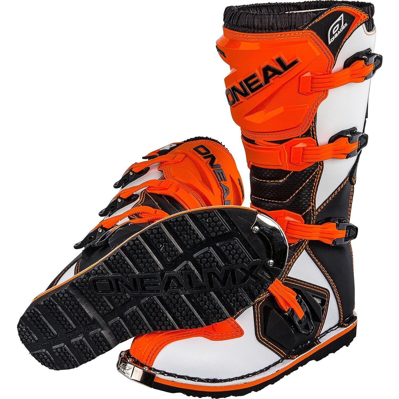 HEYBERRY O Neal Rider Boot MX Cross Stivali Arancione Motocross Moto Enduro /3 0329/