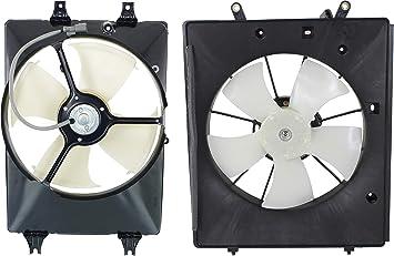 Radiator Cooling Fan w//A//C Condenser Fan for 2005-2008 Honda Pilot Left /& Right