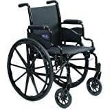 """Invacare 9000 SL Durable Light Weight Wheelchair, Desk-Length Arms, 16"""" Wide Seat, Flat Black, 9SL_34745"""