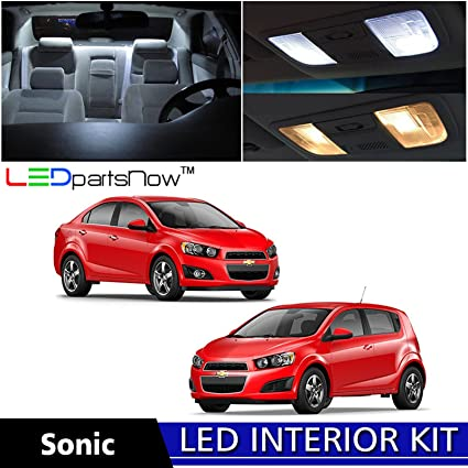 Amazon Com Ledpartsnow 2012 2017 Chevy Sonic Led Interior Lights