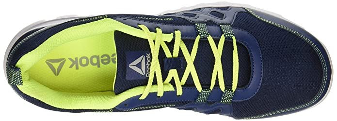 Reebok Men s Run Fusion Xtreme Washed Blue NEON Yellow Running Shoes-46  (CN6026)  Buy Online at Low Prices in India - Amazon.in 605ef927c
