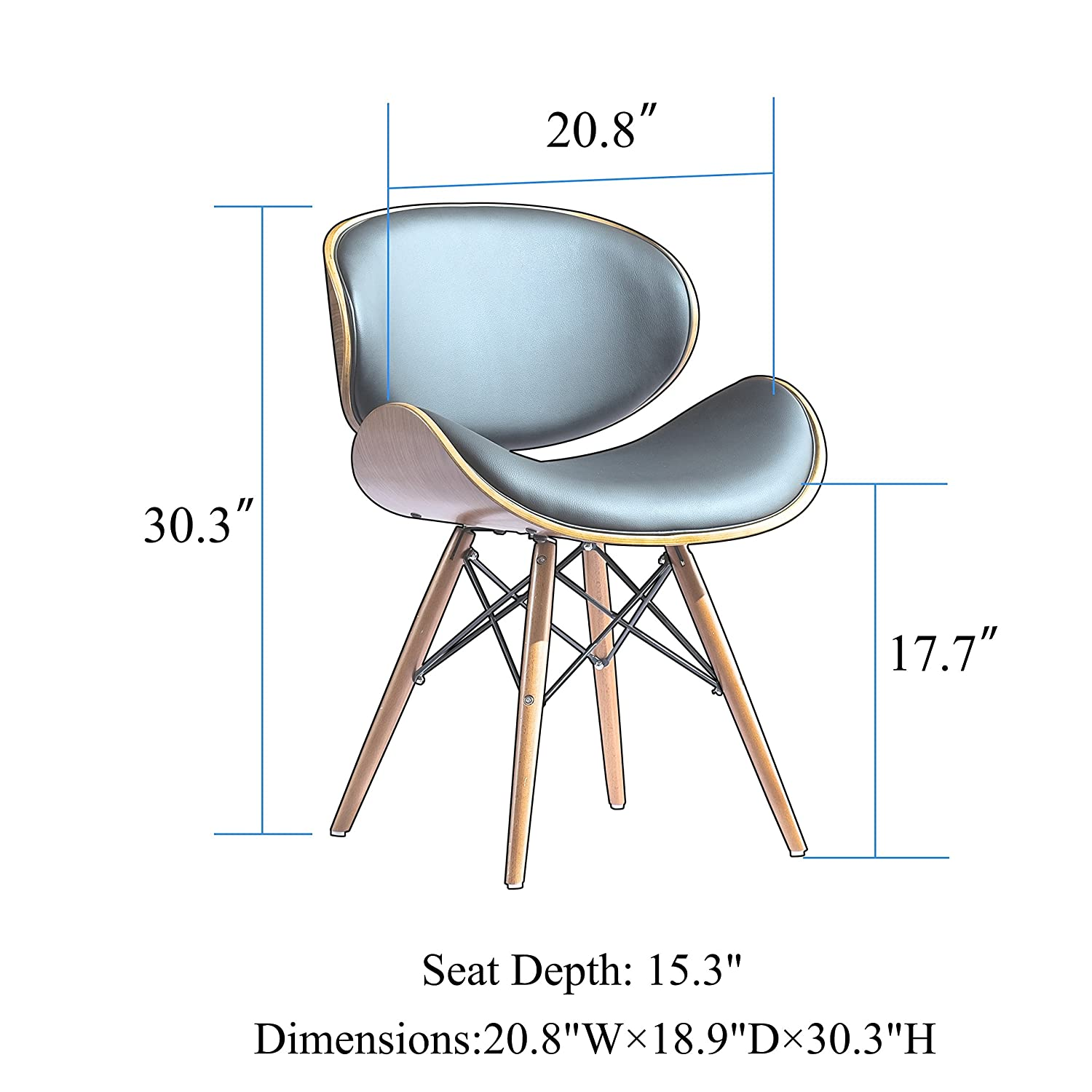 Cool Corvus Madonna Walnut And Black Finished Contemporary Bent Look 30 Inch Mid Century Style Chair 1 Dailytribune Chair Design For Home Dailytribuneorg