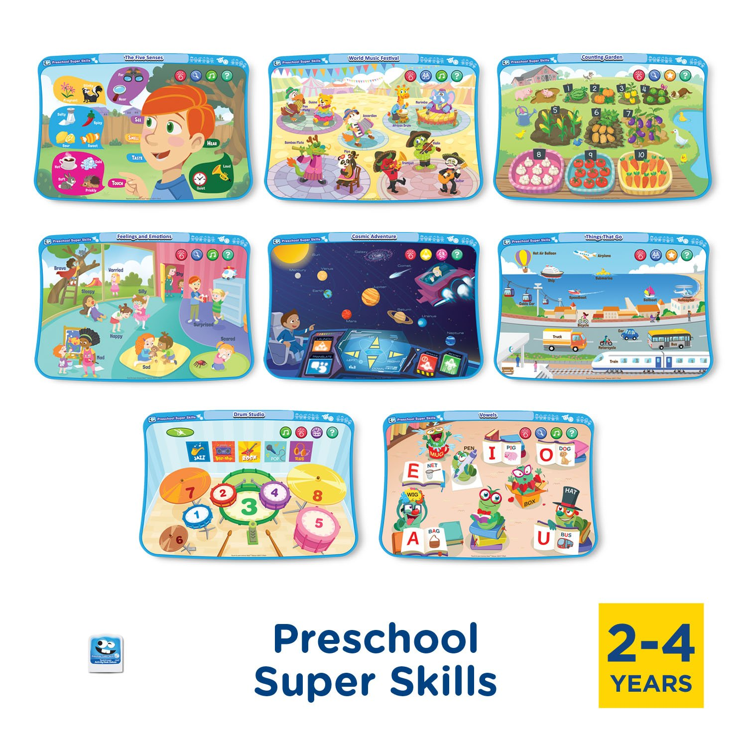VTech Touch & Learn Activity Desk Deluxe 2-in-1 Preschool Bundle Expansion Pack for Age 2-4 by VTech (Image #2)