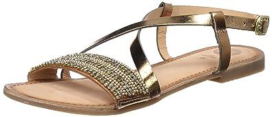 Gioseppo 45278, Sandales Bout Ouvert Femme, (Oro), 41 EU