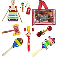 Simple Days Wooden Rattle Musical Toys - Set of 6
