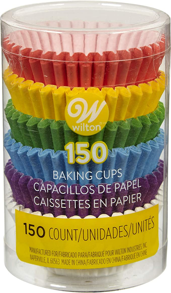 Mini Pastel Rainbow Cupcake Liners Qty 120 Mini Pastel Rainbow Polka Dot /& Solid Cupcake Liners Mini Pastel Rainbow Baking Cups