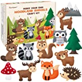 CiyvoLyeen Woodland Animals Craft Kit Forest Creatures DIY Sewing Felt Plush Animals for Kids Beginners Educational…