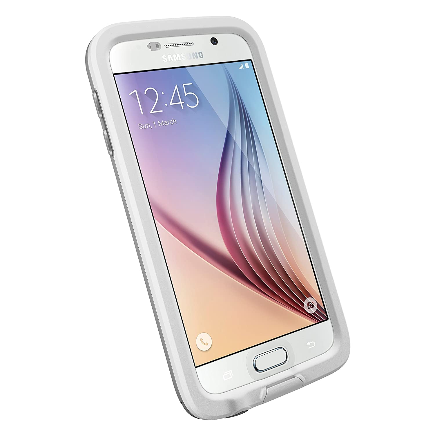 Amazon.com: LifeProof FRE Samsung Galaxy S6 Waterproof Case - Retail Packaging AVALANCHE (WHITE/GREY): Cell Phones \u0026 Accessories