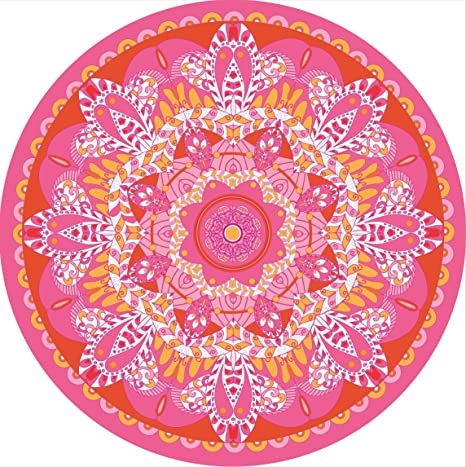 Pink Boho Medallion Wall Decal Removable and Reusable 24 or 36