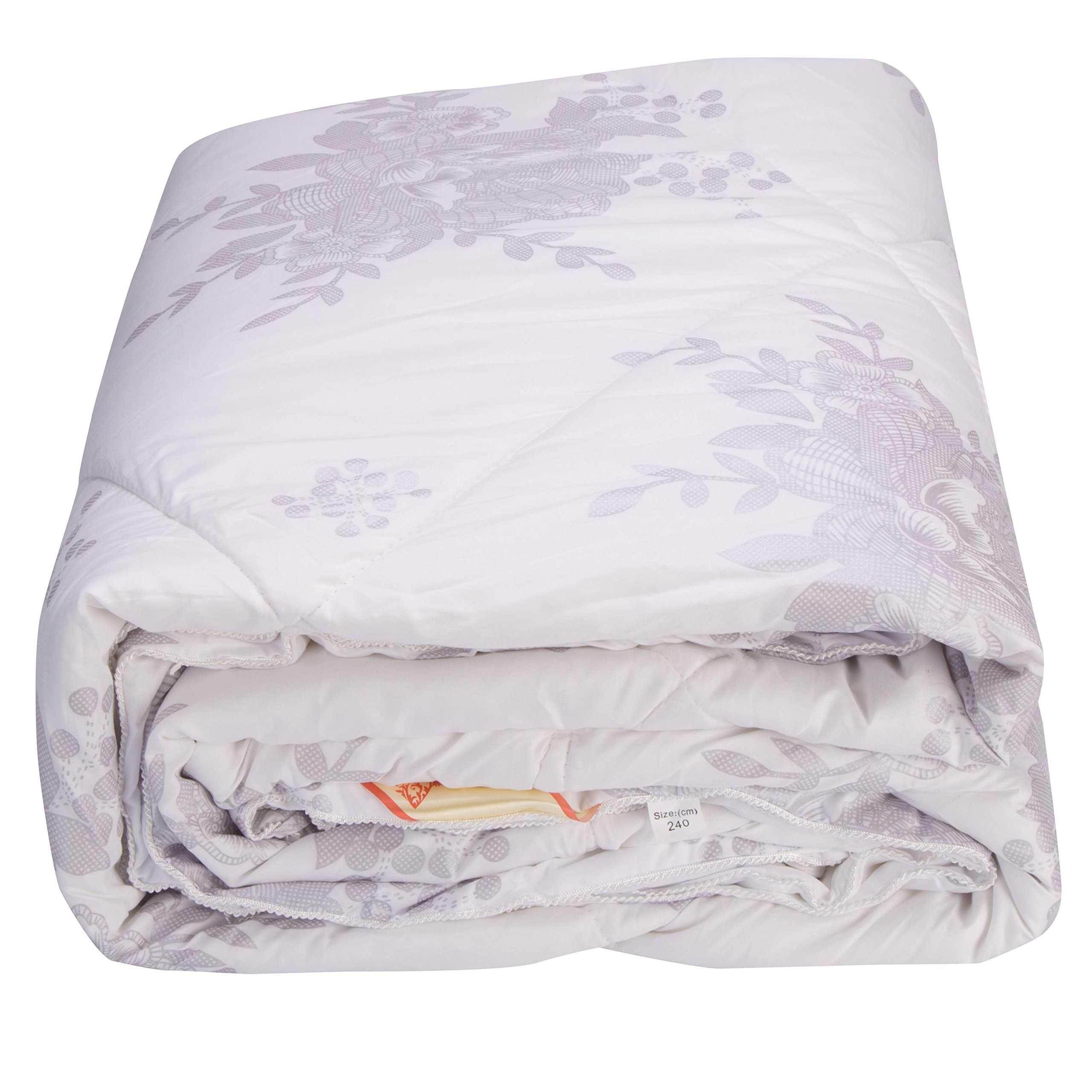 Alicemall Full Size Comforter Duvet Insert White Hypoallergenic Stain Cotton Printing Silky Hollow Fiber Filled Quilt, Twin/ XL Twin/ Full/ Queen/ King/ California King (Full) by Alicemall (Image #8)