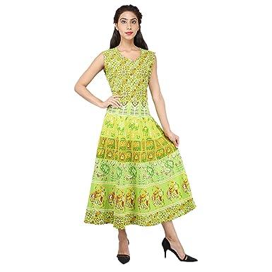 97bcaaf3eb1 JR Print Green Cotton Women s Kurta Salwar Suit (Jms004 Free Size ...