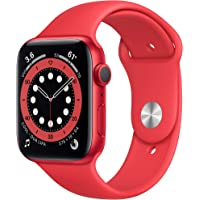 Apple Watch Series 6 44mm GPS Smartwatch ((PRODUCT)RED Aluminum Case with (PRODUCT)RED Sport Band)
