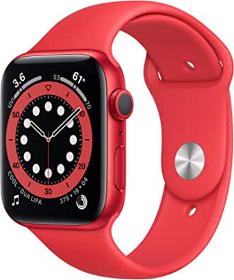 New AppleWatch Series 6 (GPS, 44mm) - (Product) RED - Aluminum Case with (Product) RED - Sport Band