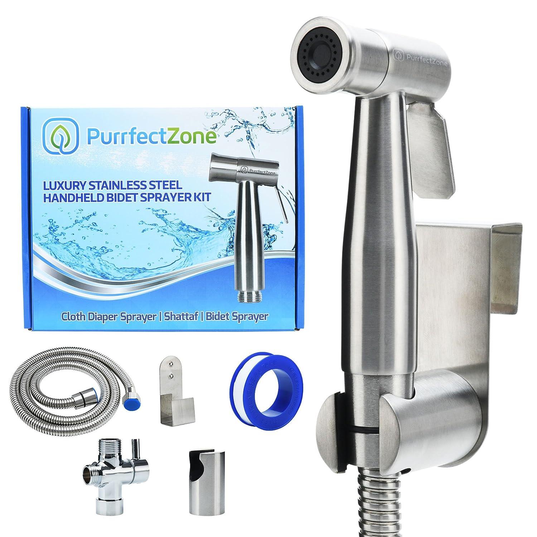 PurrfectZone Luxury Handheld Bidet Sprayer Set - Baby Cloth Diaper ...