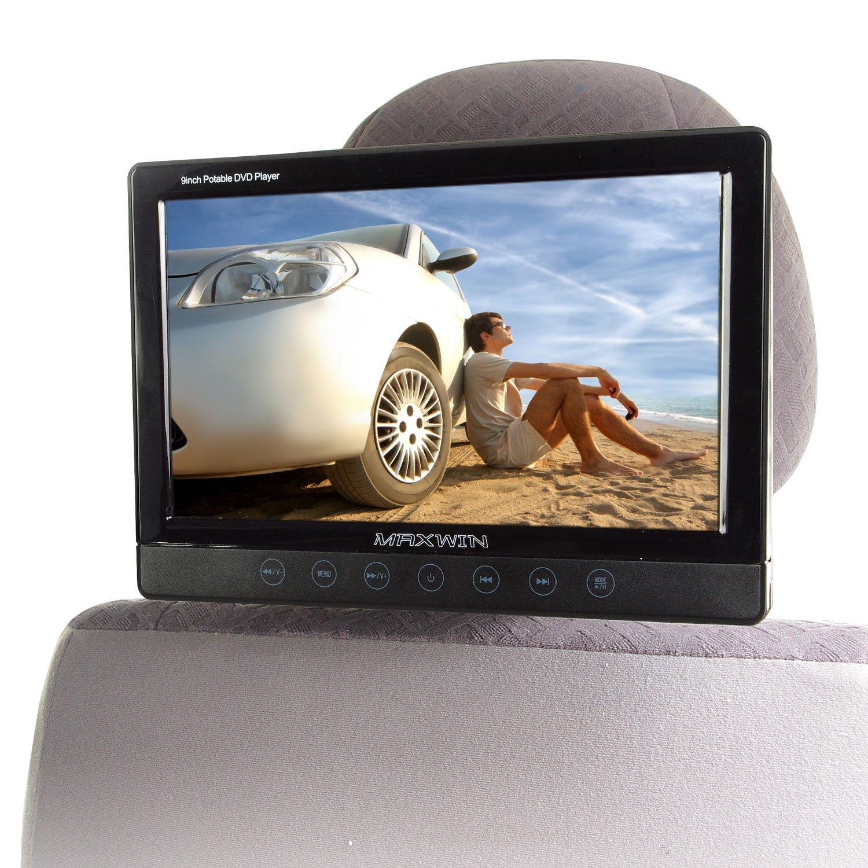 MAXWIN(マックスウィン)DVDプレーヤー 9インチ ポータブル 車載 モニター リアモニター ヘッドレスト CPRM DVD CD SD USB RCA 簡単取付 後部座席 外部入出力 HRKIT901 B007VXE064