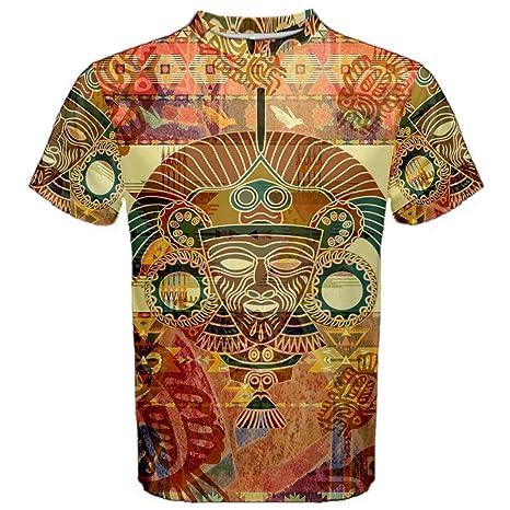 1b7c9e31 Aztec Ancient Code Trippy Hippie Psychedelic Full 3D Sublimation Men T-Shirt  Full 3D Custom