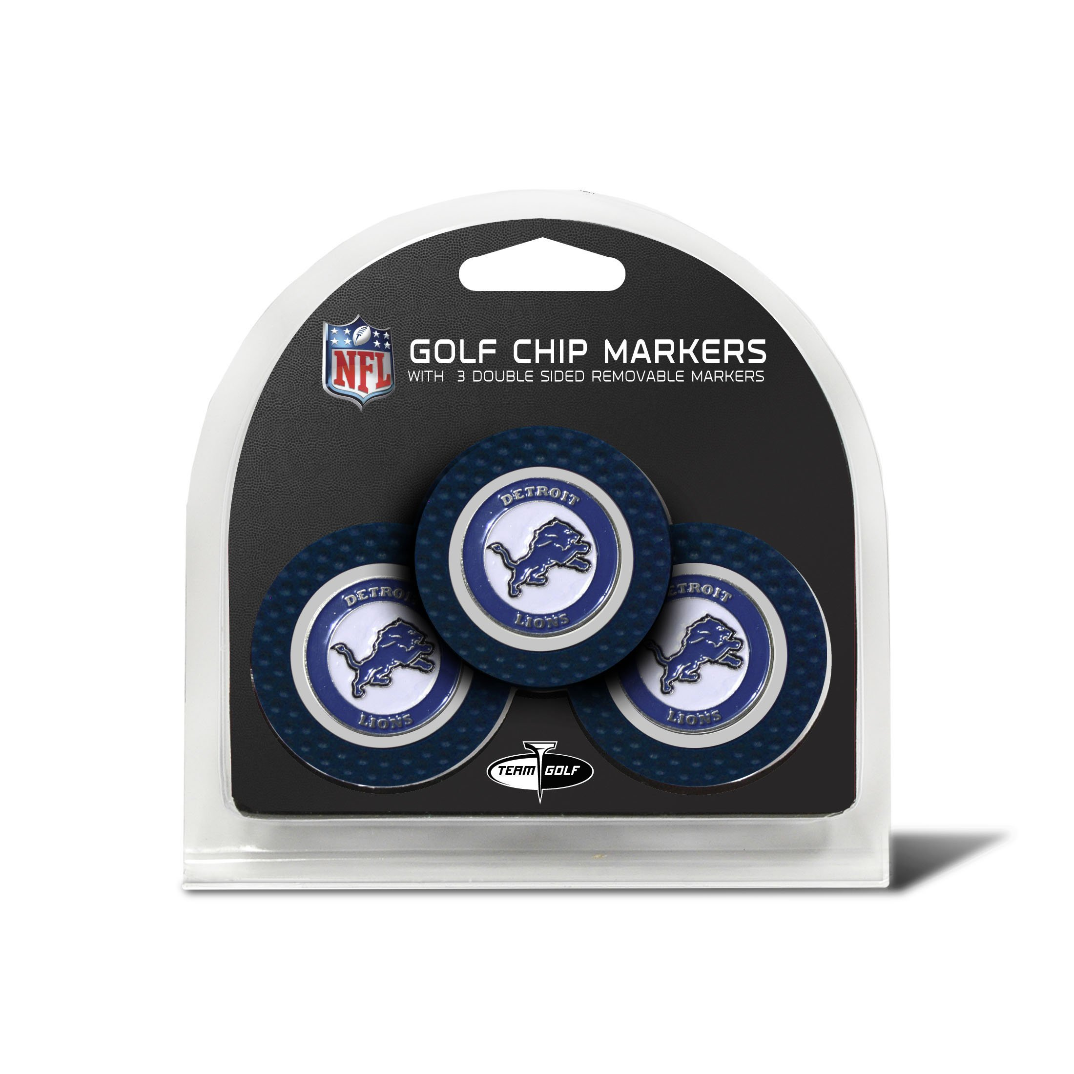 NFL Detroit Lions 3 Pack Golf Chip Ball Markers by Team Golf (Image #1)