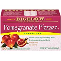 Bigelow Pomegranate Pizzazz Herbal Tea Bags 20-Count Boxes (Pack of 6),  Caffeine...