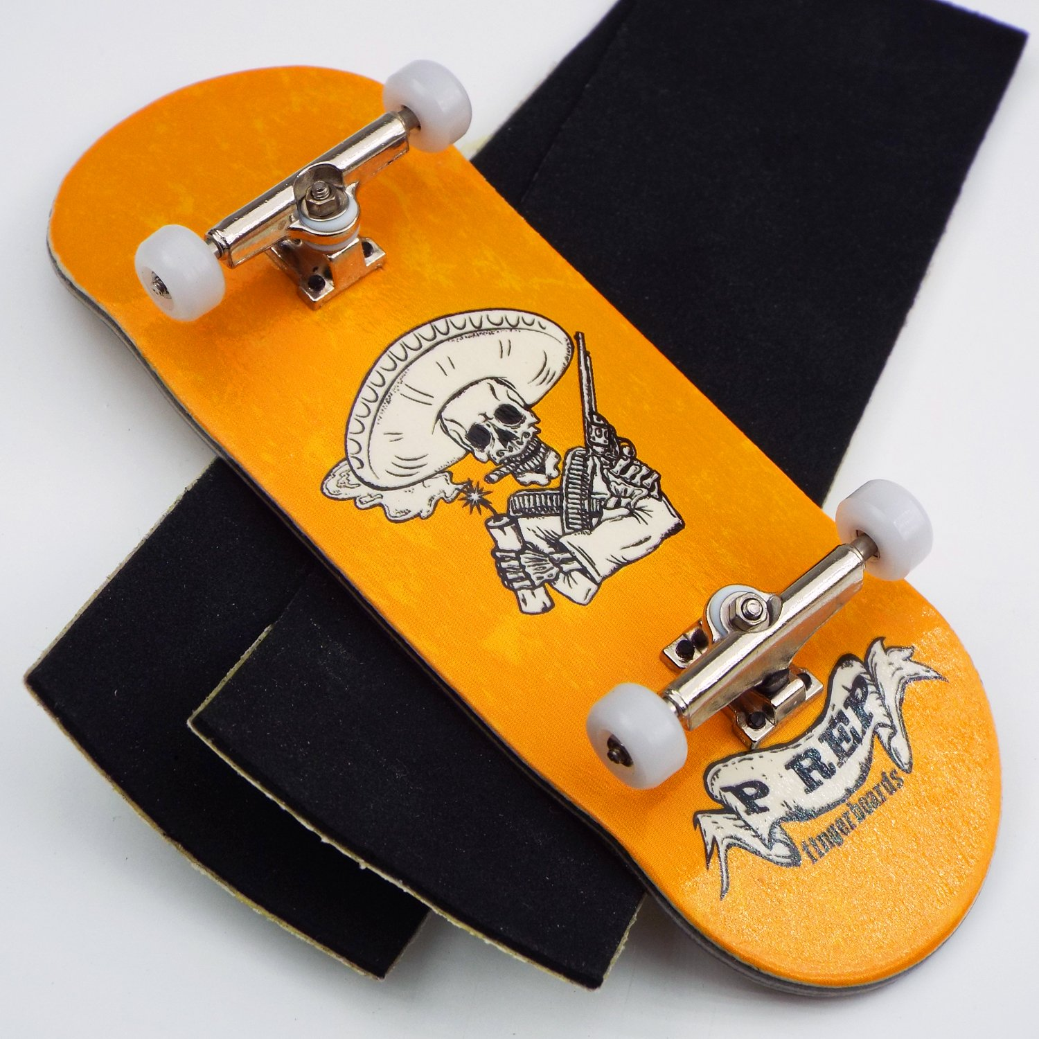 Peoples Republic P Rep Bandito 34mm Complete Wooden Fingerboard w CNC Lathed Bearing Wheels …