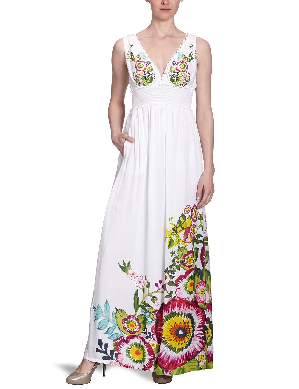 Desigual Damen Kleid (lang) 22V2232, Gr.34 (XS) (ES 36), Weiß ...