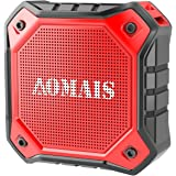 AOMAIS Ultra Portable Wireless Bluetooth Speakers with 8W Output Loud Sound,Waterproof IPX7 Floating,Stereo Pairing,for iPhone7/iPod/iPad/Samsung/Cell Phones/Tablets/PC/Laptop(Red)