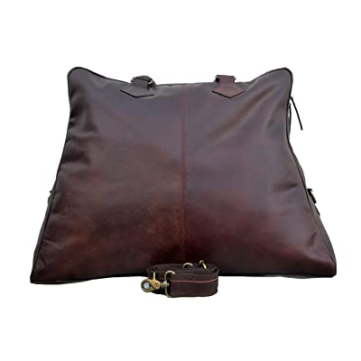 """The Tannery 23 inch Buffalo Leather Duffel Bag ,Travel Luggage Tote Bag for Men/Womens Christmas Gifts (Brown, 23"""")"""