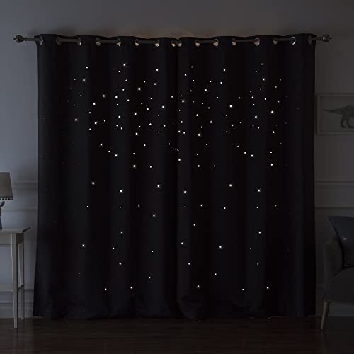 Best Home Fashion Star Cut Out Blackout Curtains