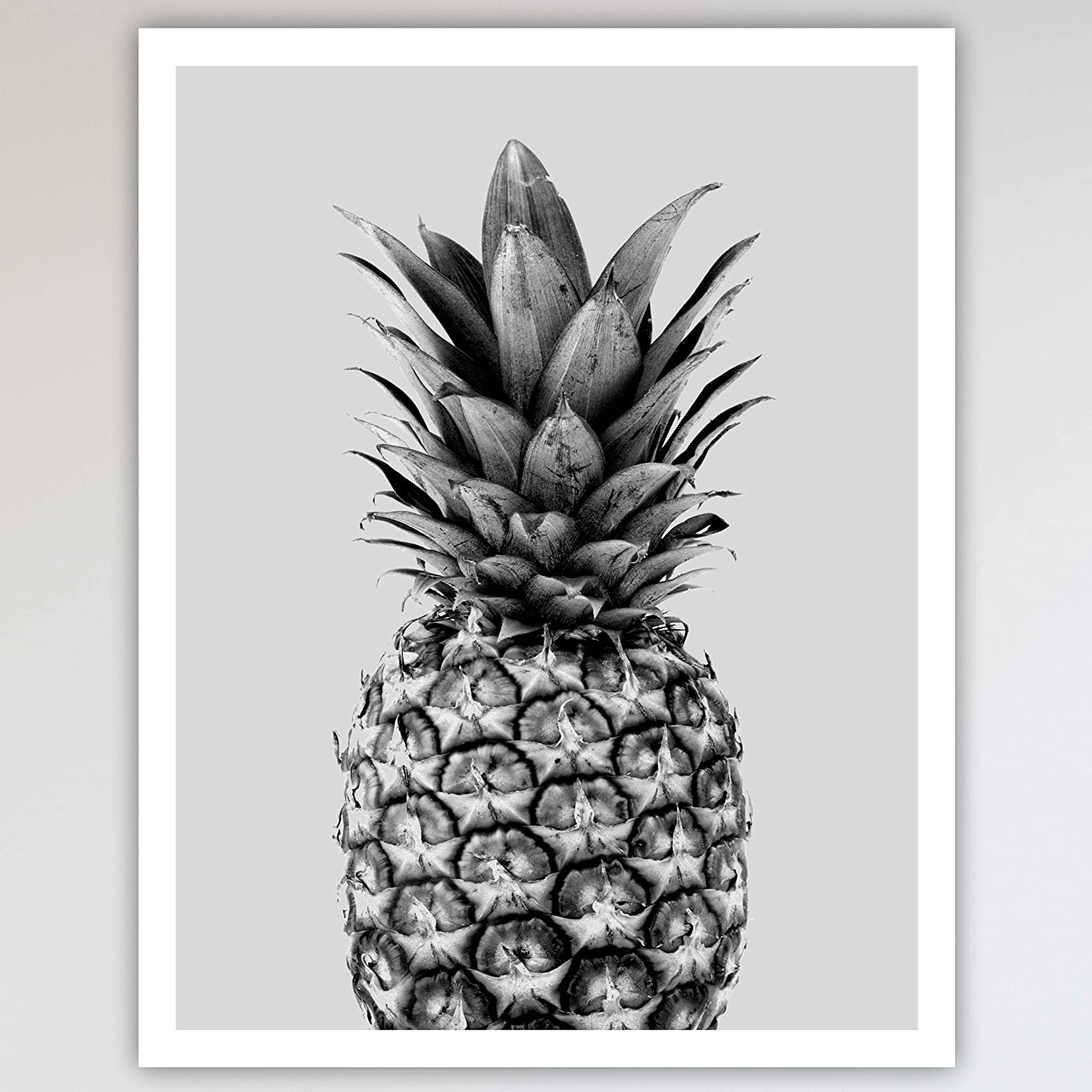 Pineapple black white boho botanical art print poster home wall art for home decor 11x14 inches 27 94 x 35 56 cm unframed amazon ca handmade
