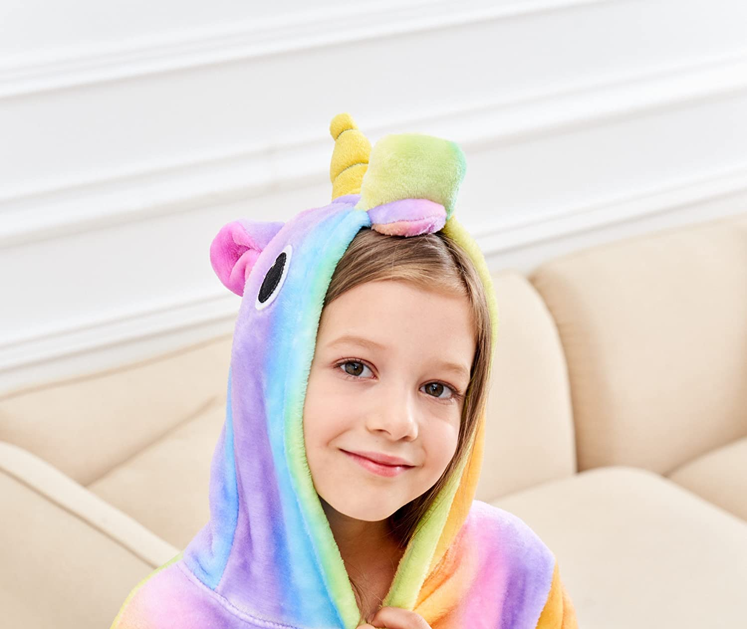 Cesriter Unicorn Hooded Bathrobe Sleepwear Matching Doll /& Girls Gifts