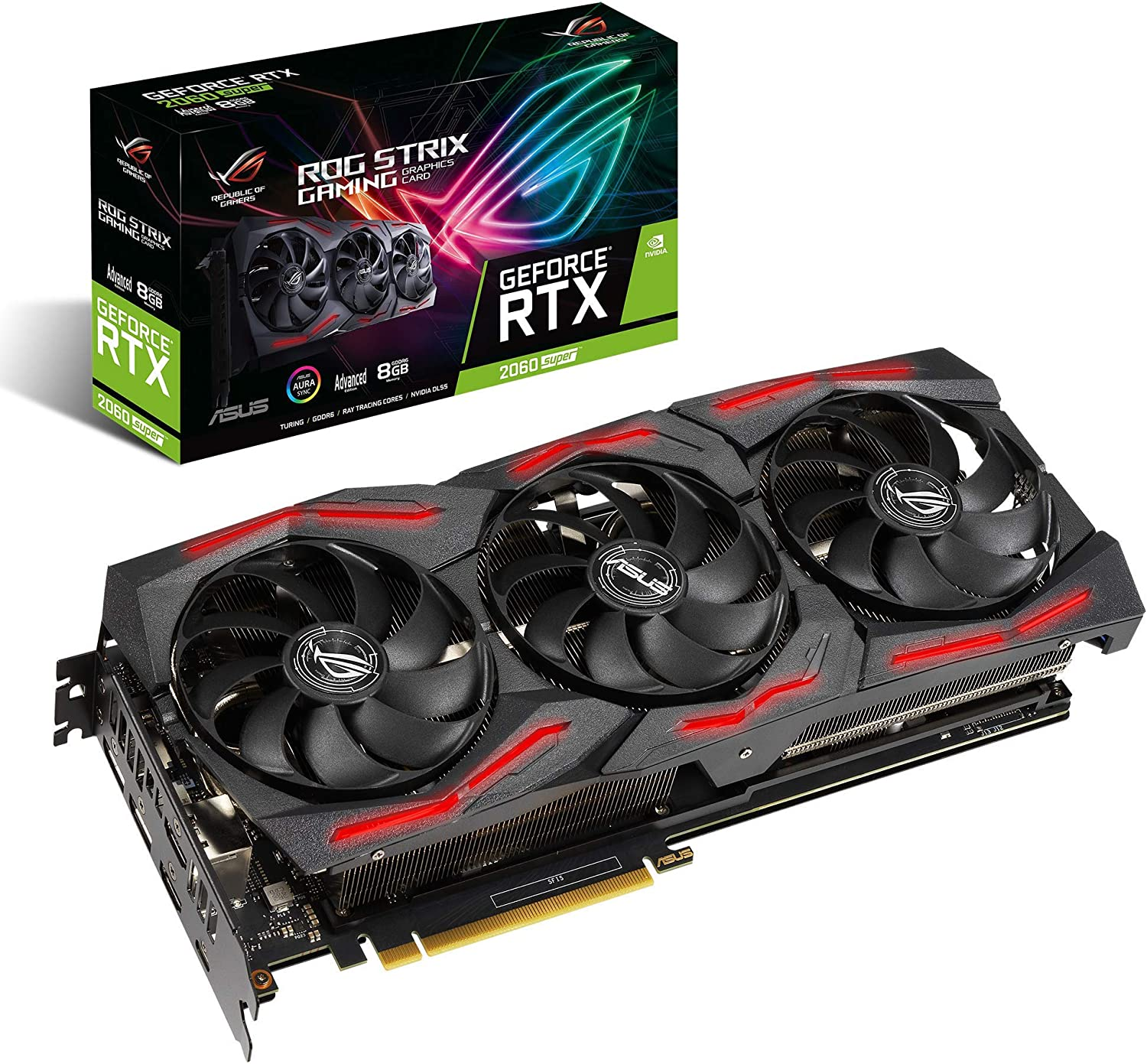 ASUS ROG Strix GeForce RTX 2060 Super Advanced Overclocked EVO 8G GDDR6 HDMI DisplayPort USB Type-C Gaming Graphics Card (ROG-STRIX-RTX2060S-A8G-EVO-GAMING)