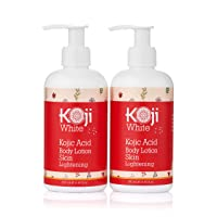 Koji White Kojic Acid Body Lotion Skin Brightening Gift Box Set - Moisturizing & Rejuvenated, Nourished, Smooth Skin for Exfoliating & Balance - 2 Pack 8.45 Ounce Bottle