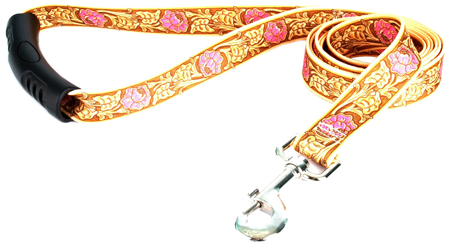 M Yellow Dog Design EZ-Grip Lead, 3 4-Inch by 60-Inch, Leather pink Pink
