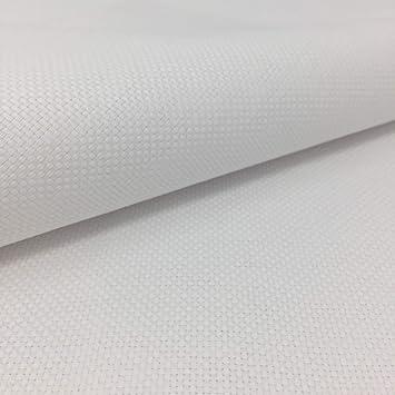 Tela para Punto de Cruz | 75cm x 50cm | 5,5 puntos/cm - 14 cuentas | 100% algodón | Elige color | de Delicatela (Blanco): Amazon.es: Hogar