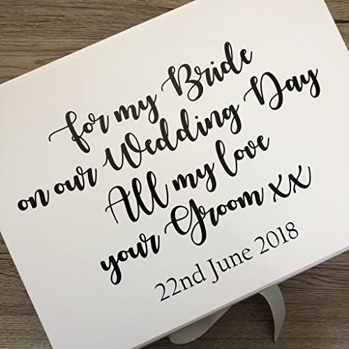 Personalised Bride Box Wedding Day Gift Box Wife To Be Gift Box