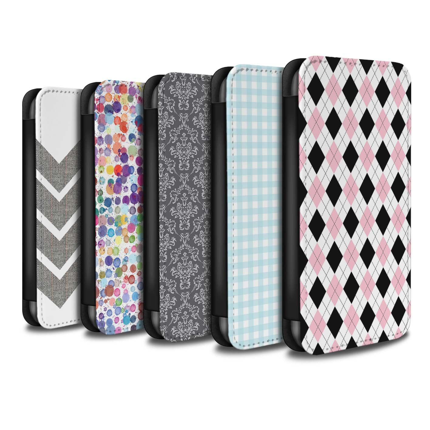 STUFF4 PU Leather Wallet Flip Case/Cover for Apple iPhone 8 / Pack 14pcs Design / Winter Fashion Collection