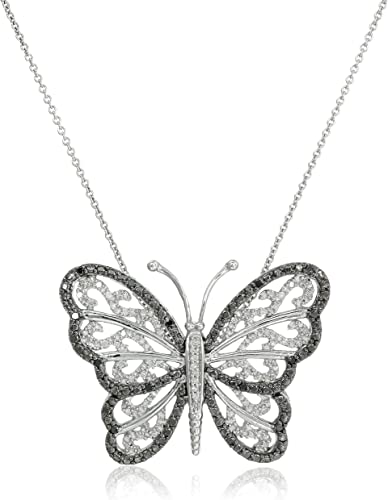 """Sterling Silver and diamond pendant 18/"""" necklace Blow out price!"""