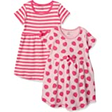 Touched by Nature Baby-Girls Organic Cotton Short-Sleeve Dresses