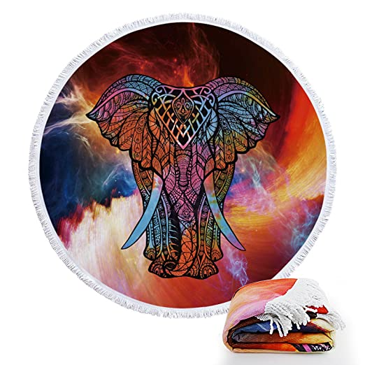 footalk redondo Roundie indio Mandala estilo colorido ...