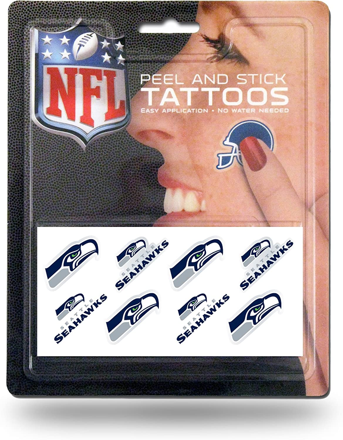 NFL Rico Industries Face Tattoos, 8-Piece Set, Seattle Seahawks : Sports & Outdoors