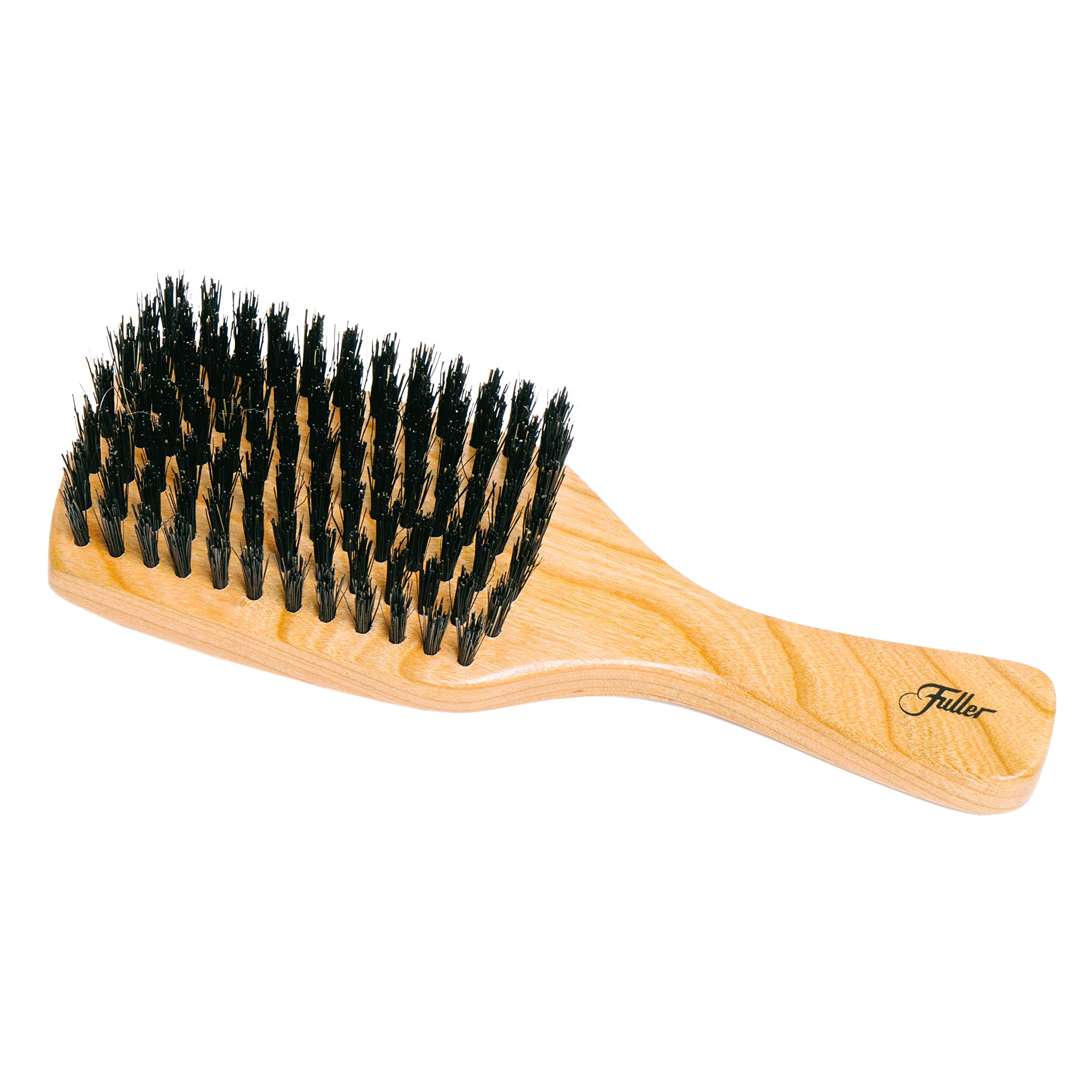 Fuller Brush Natural Cherry Wood Club Hairbrush - Hand-Crafted, Heirloom Quality Hair Brush with Firm Natural Boar Bristles for Brushing and Smoothing All Types of Hair - Made in USA by Fuller Brush