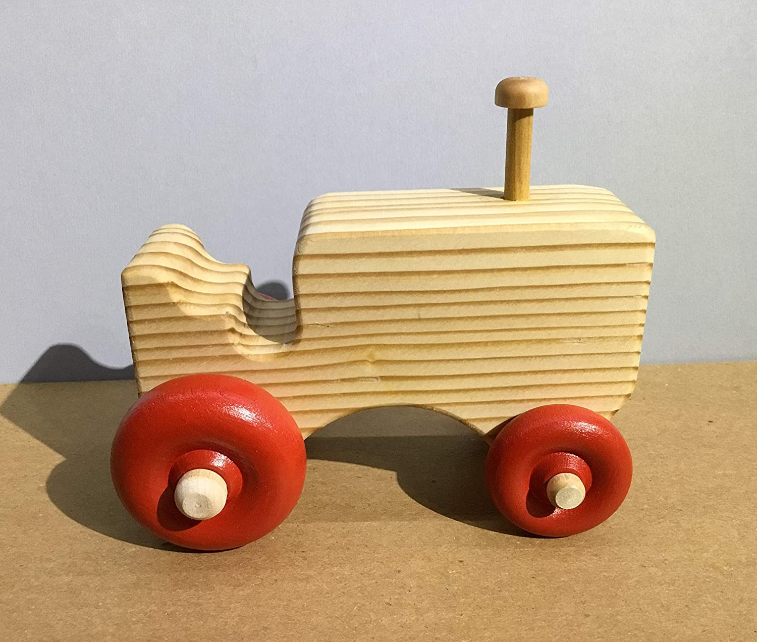Handmade Wooden Toy Tractor PaseToys