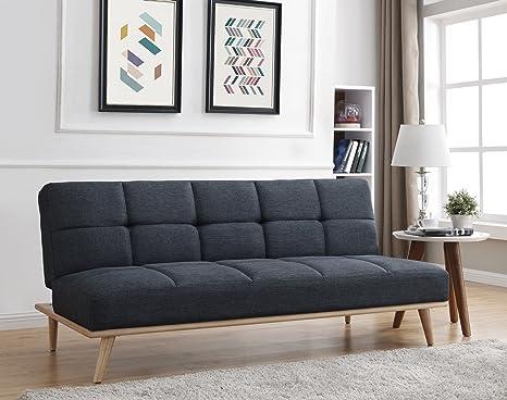 Bestmobilier - Zara - Sofá-cama escandinavo, 3 plazas, 182 x ...