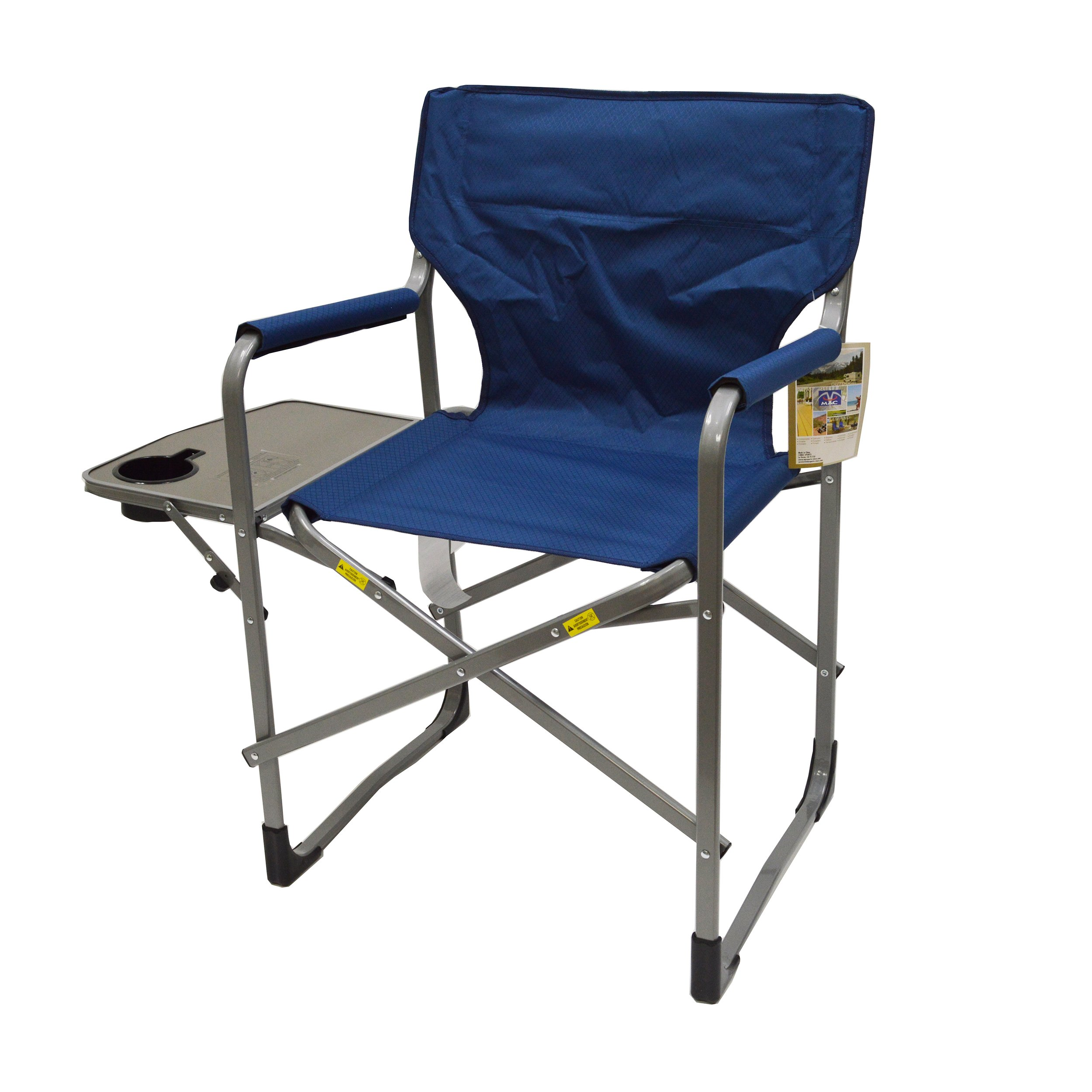 Deluxe Director's Chair with Side Table (Blue)