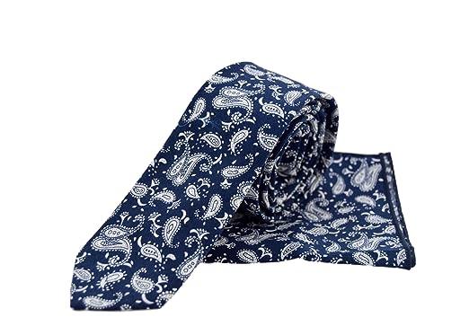 VREELANT Corbata + pañuelo cachemir azul: Amazon.es: Ropa y accesorios