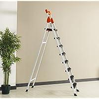 7+1 Basamaklı Kaymaz Merdiven Metal Sağlam Gövde Şık Tasarım (TURUNCU)