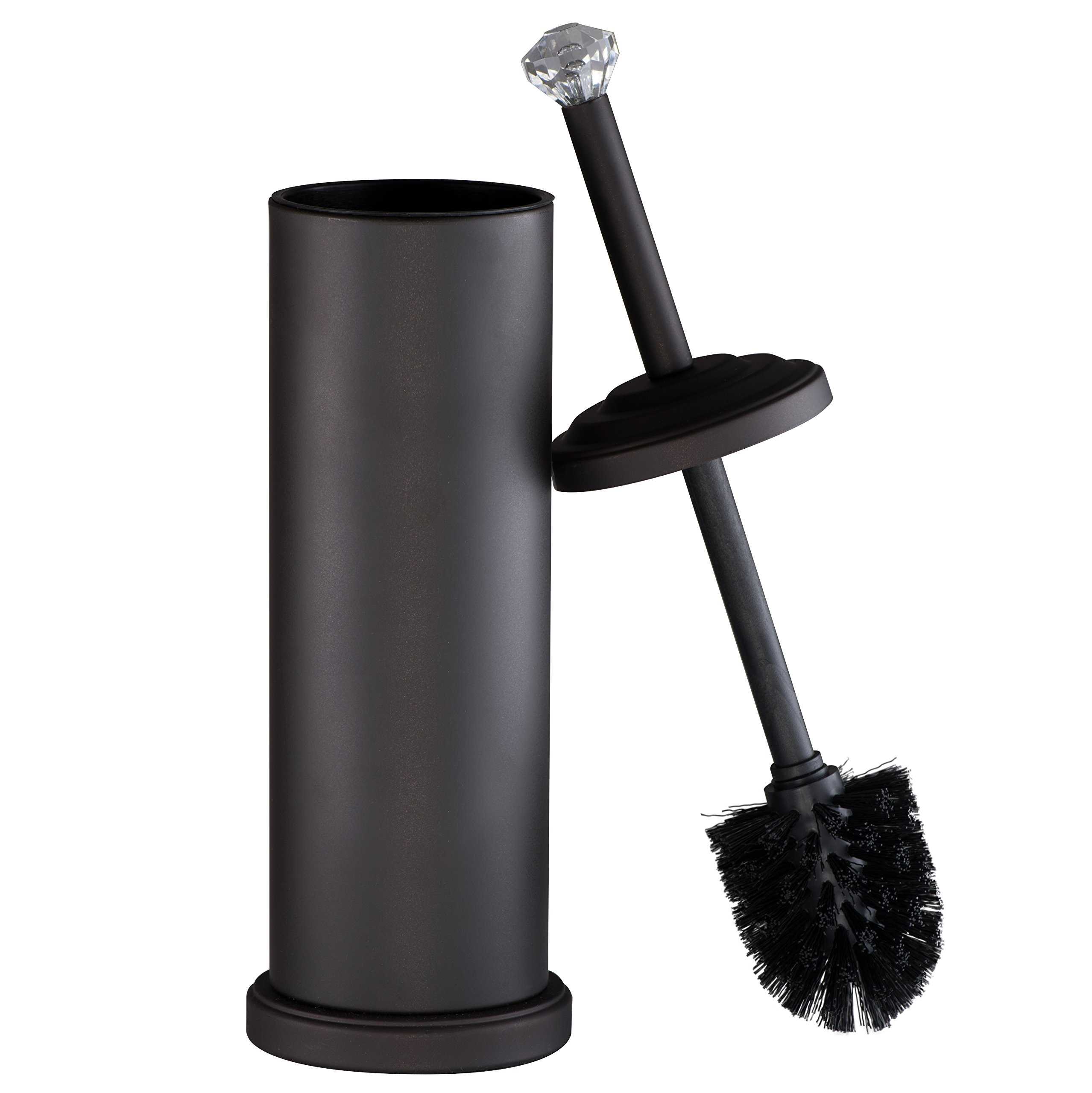AMG and Enchante Accessories, Diamond Toilet Brush and Holder, TB112A ORB, Oil Rubbed Bronze